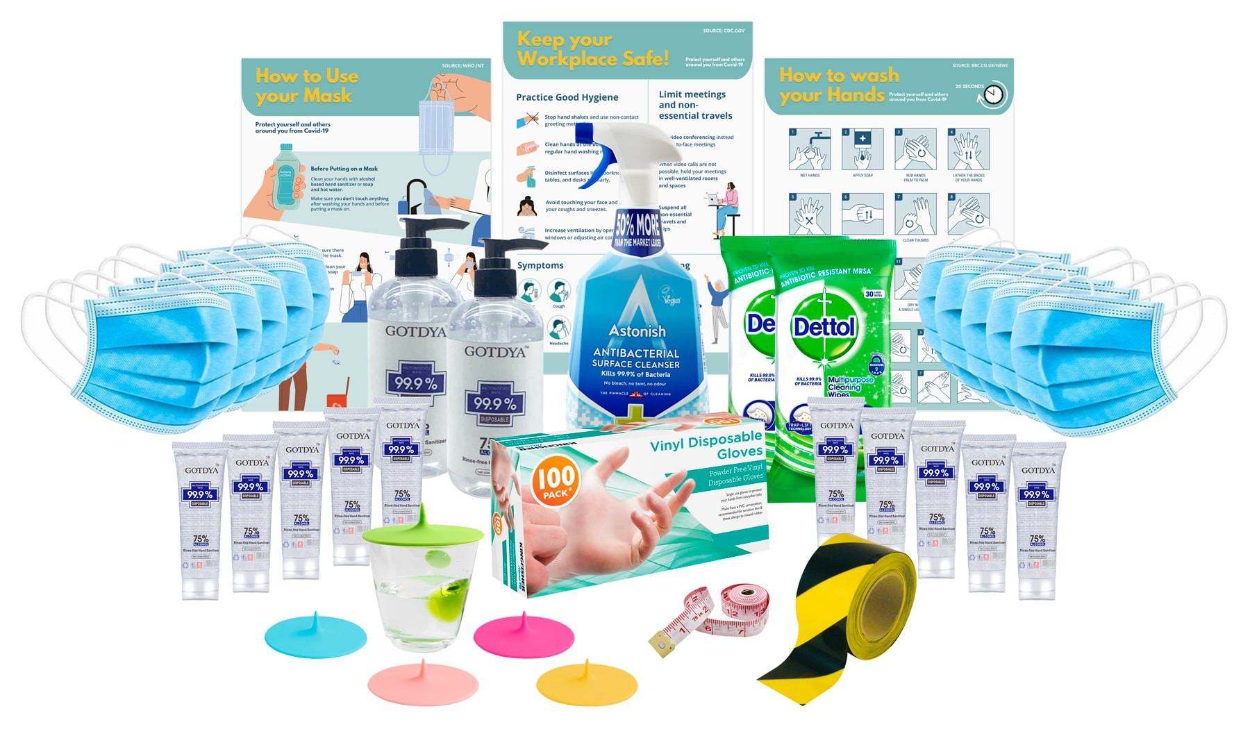 Office Protection Essentials Pack (Limited Availability) - 50 Pieces to Protect Your Office