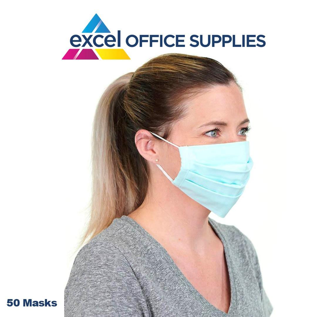 3 Ply Disposable Face Masks Pk 50
