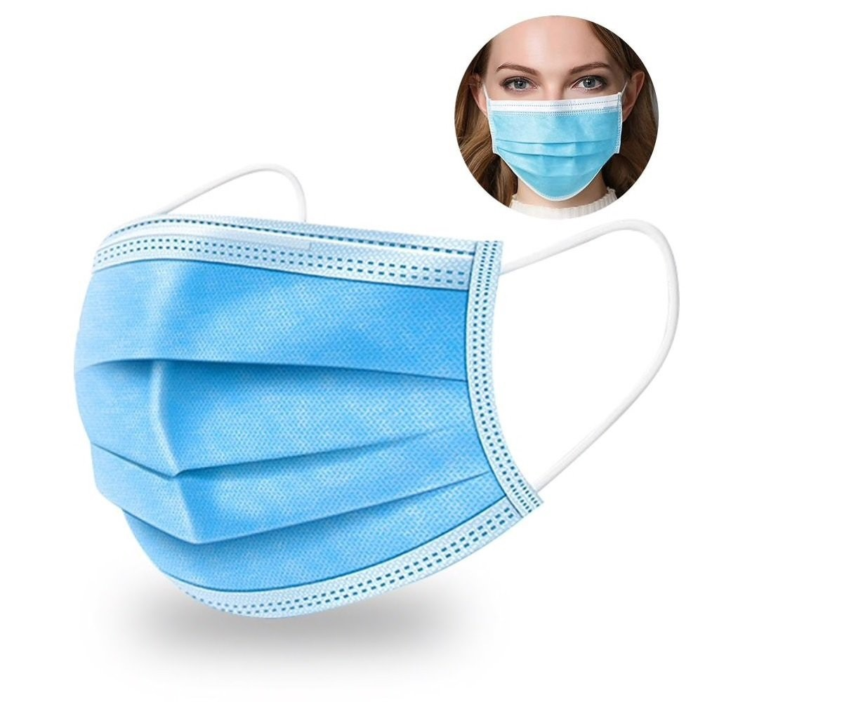 Type IIR 3 Ply Fluid Resistant Masks Pk50. In Stock. 48 Hour Delivery