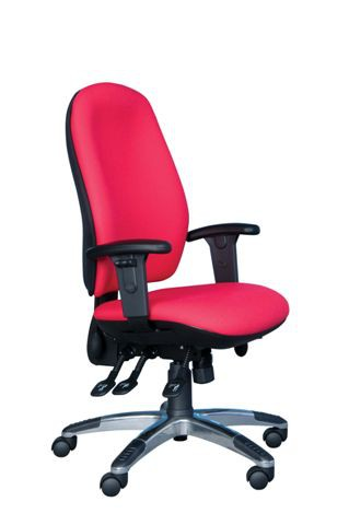 ACT5 HIGH BACK POSTURE CHAIR INFLATABLE PUMP LUMBAR SEAT SLIDE (FABRIC COLOUR)