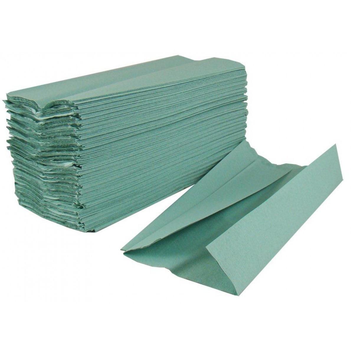 C-Fold Towel Green Hand Towel Pk2600