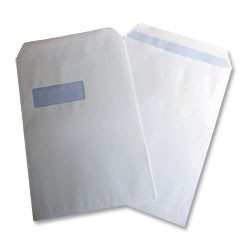 100gsm C4 Window Fastseal Envelope pk250