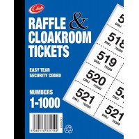 Image for 1-1000 CLOAKROOM TICKETS K27719