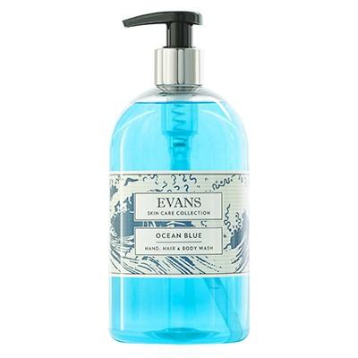 Ocean Blue Hair, Hand & Body Wash 500ml Pump