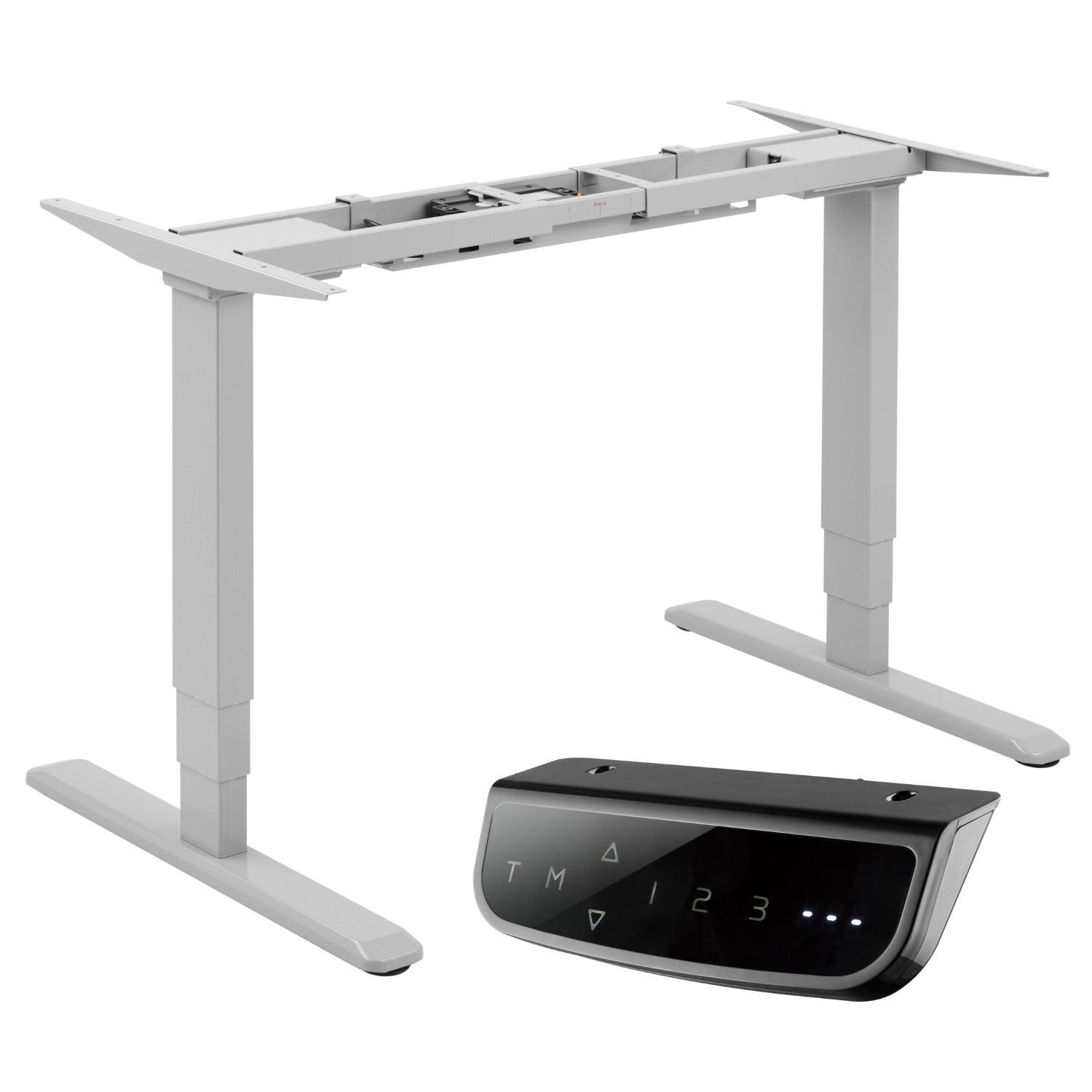 Electric Height Adjustable Sit-Stand Desk Frame Sensitive Anti-Collision White