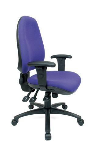 ACTIV6 HIGH BACK POSTURE CHAIR HEAVY DUTY 3 LEVER MECHANISM INFLATABLE PUMP LUMBAR SEAT SLIDE (FABRIC COLOUR)