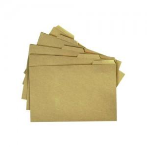 Image for 5 Cut tabbed Filing Folders Manilla Foolscap