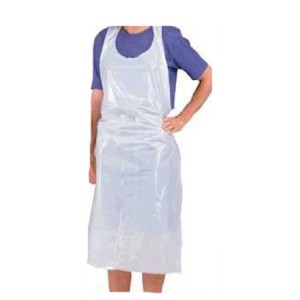 Disposable Aprons White 27 x 42. Pack 100