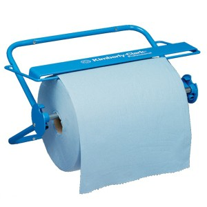 Wall Mounted Wiper Dispenser - Large Roll / Blue