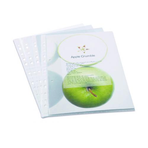 ECO A4 Clear Punched Pockets