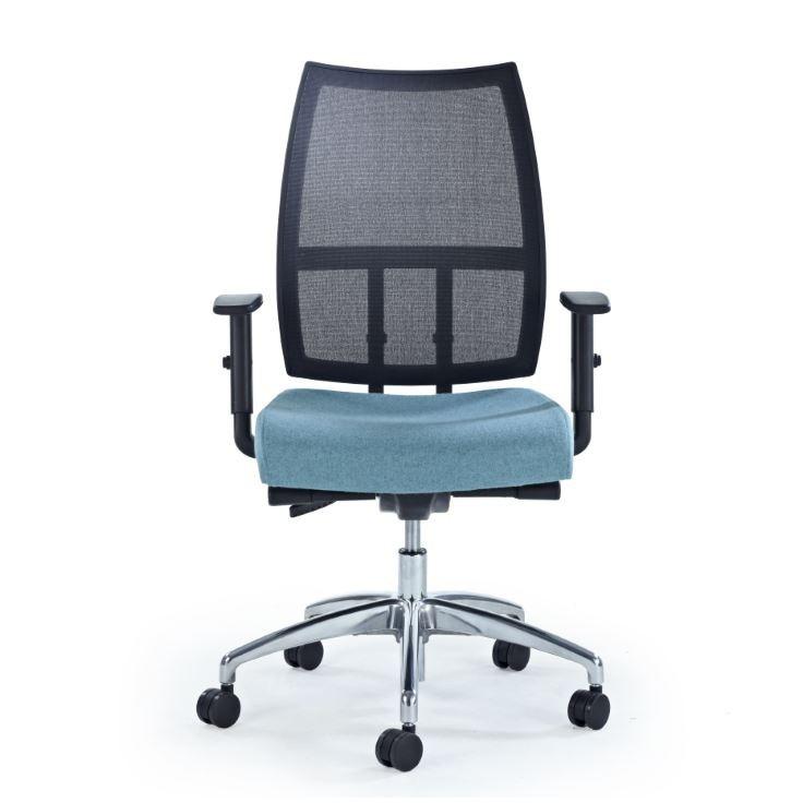 Pepi Task Chair - mesh back, height adjustable arms, balance synchro mech, seat slide, black base