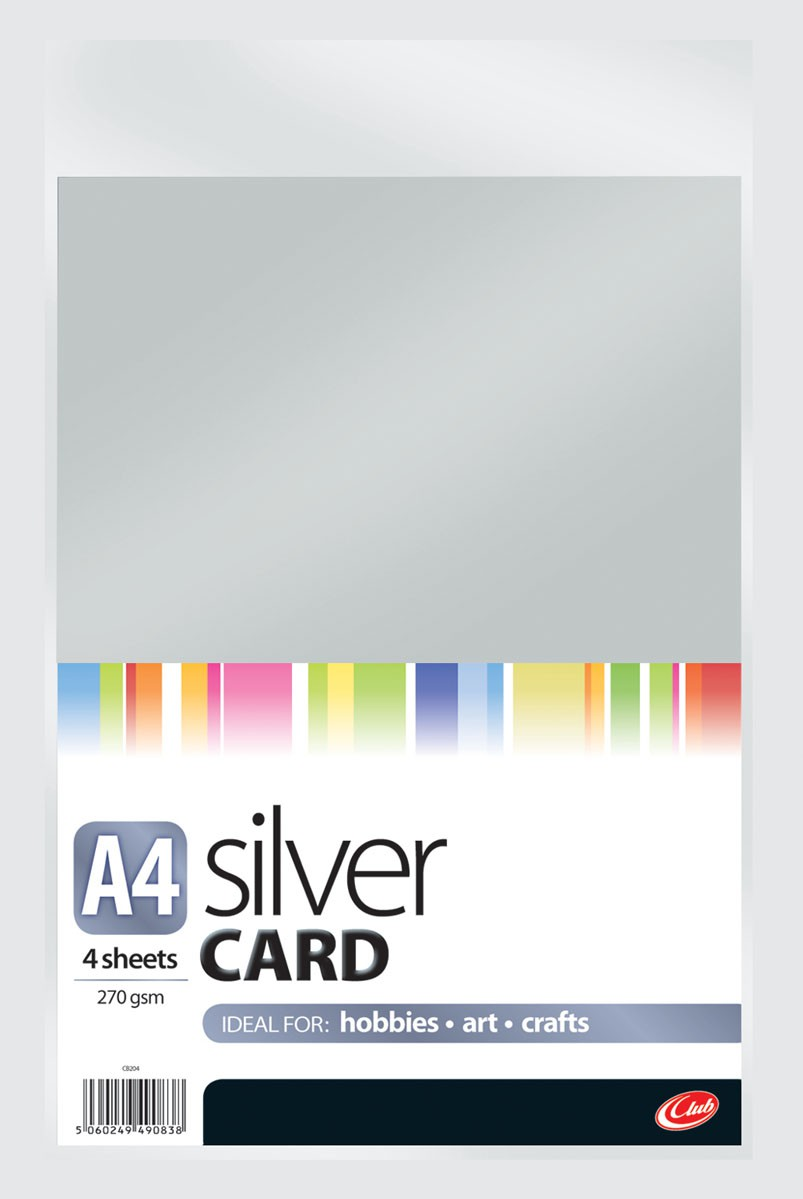 A4 Silver Card 4sheets CB204