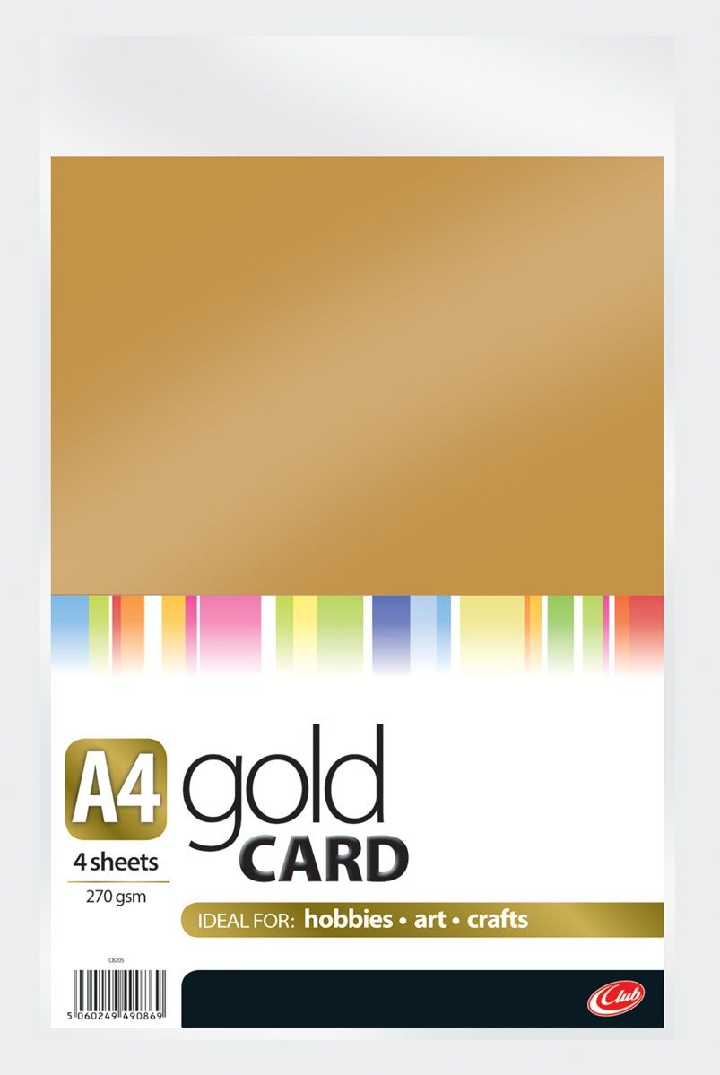 A4 Gold Card 4sheets CB205