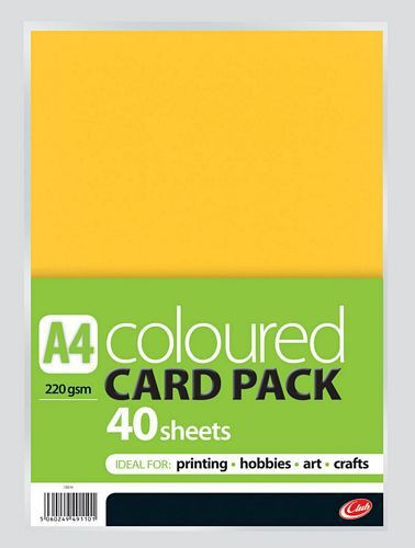A4 Assorted Card 40 sheets CB214