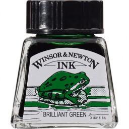 W&N DRAWING INK 14ML BRILLIANT GREEN