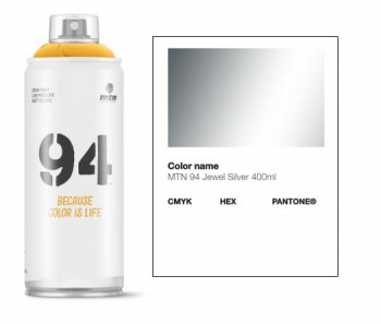 MONTANA 94 400ML SPRAY PAINT SILVER JEWEL