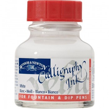 W&N CALLIGRAPHY INK 30ML WHITE