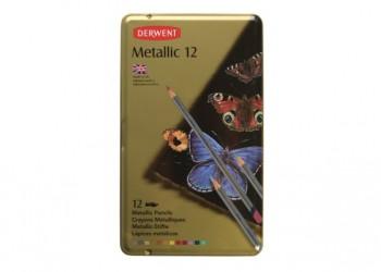 DERWENT METALLIC PENCIL TIN 12
