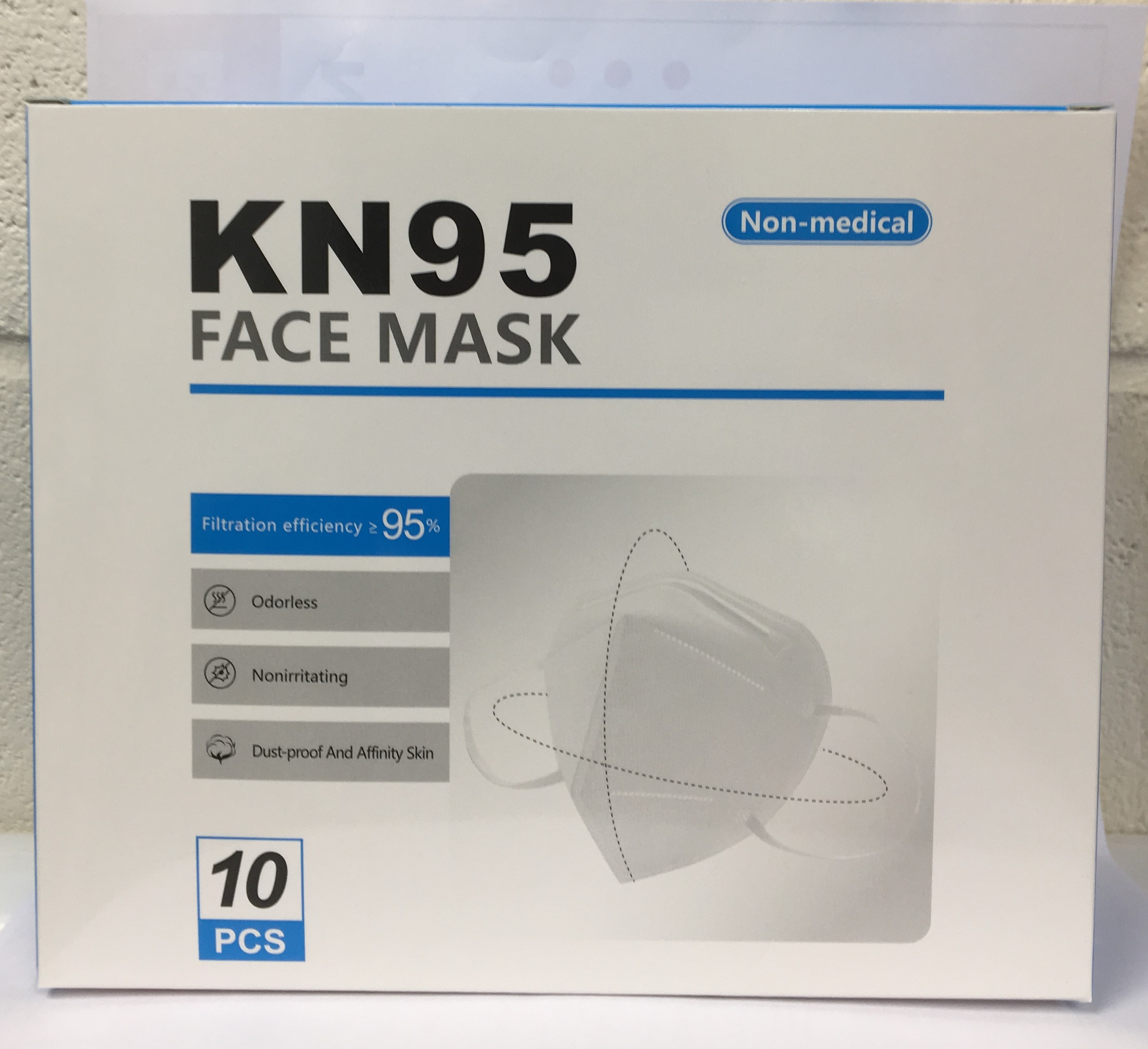 FFP2 (N95) Surgical Grade Face Mask packed in 10's, individually Shrink-wrapped