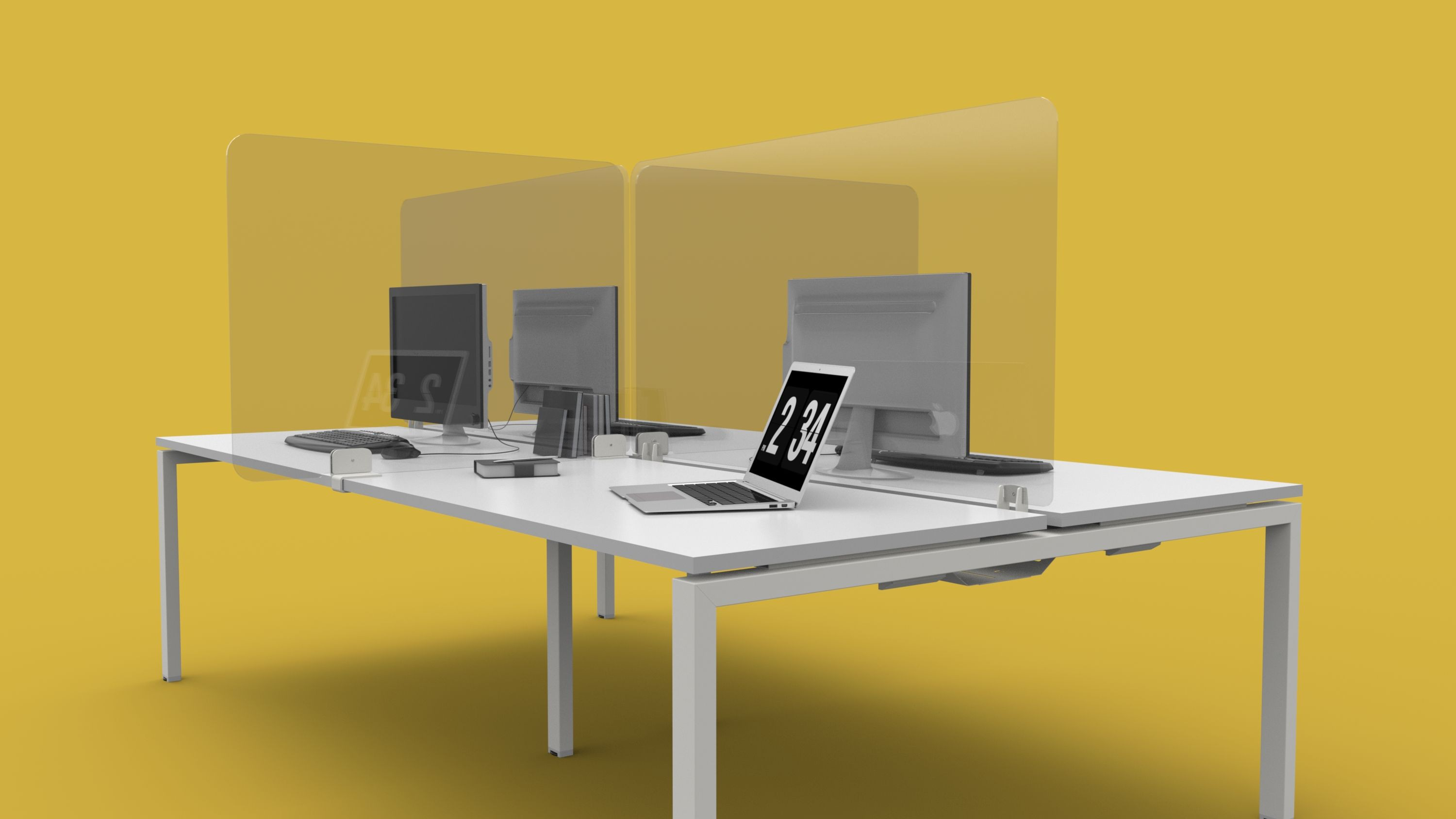 Desk Mounted 5mm & 8mm Acrylic Barrier RETURN Screen - H750 - Sizes Available: 800mm - will fit 600 Deep Desk 900mm - will fit 680/700mm Deep Desk 1000mm - will fit 780/800mm deep desk Clamps Sold Separately