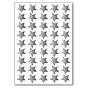 13mm Silver Foil Stars Pk135