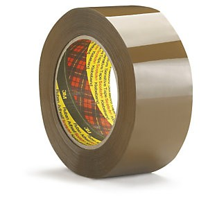 Image for 3M Scotch 371 Polypropylene Tape Buff 48mm x 66M Pack 6