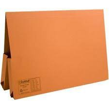 Foolscap Double Pocket File Orange (must be ordered in 25's)