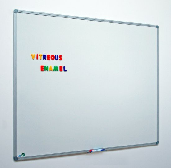 1800mm x 120mm Vitreous Enamel Magnetic Drywipe Board. Suitable for Classrooms