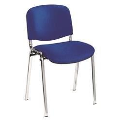 CLUB Chrome chair in Royal Blue