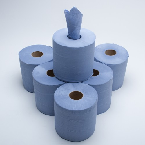 Blue Centrefeed Roll 400 Sheets (Pack6)
