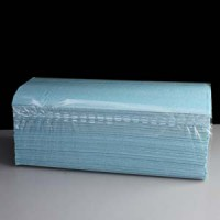 Image for 1 Ply Blue C-Fold Hand Towel 2880 Sheets Packed 192 x 15 Box 2880
