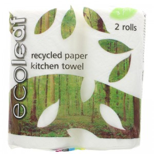 Image for 100% UK Recycled Ecoleaf 3 Ply Kitchen Towel