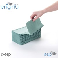 Image for 1 Ply Green Inter-Fold Towel 5000 Sheets Packed 250 x 20