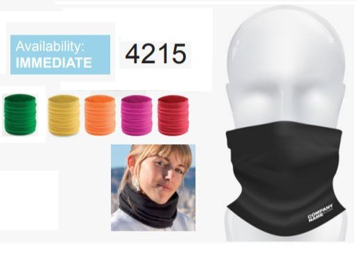 Mouth Protection Mask & Neck Warmer Assorted Polyester Colours