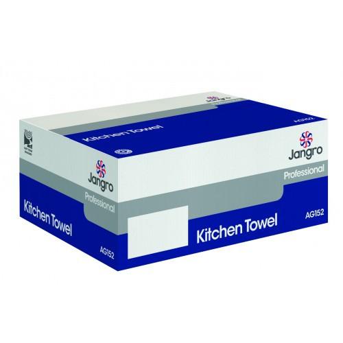Kitchen Towel 50M White 2 Ply 12 Rolls