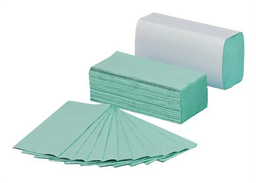 1 Ply Green C-Fold Hand Towel 