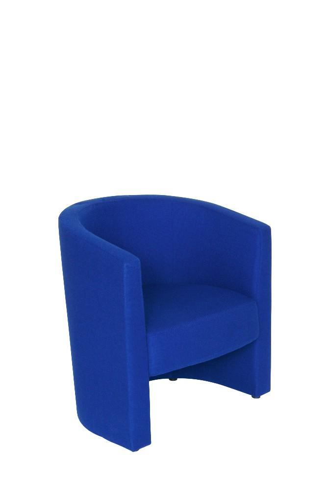 TUB Chair in Royal Blue Fabric