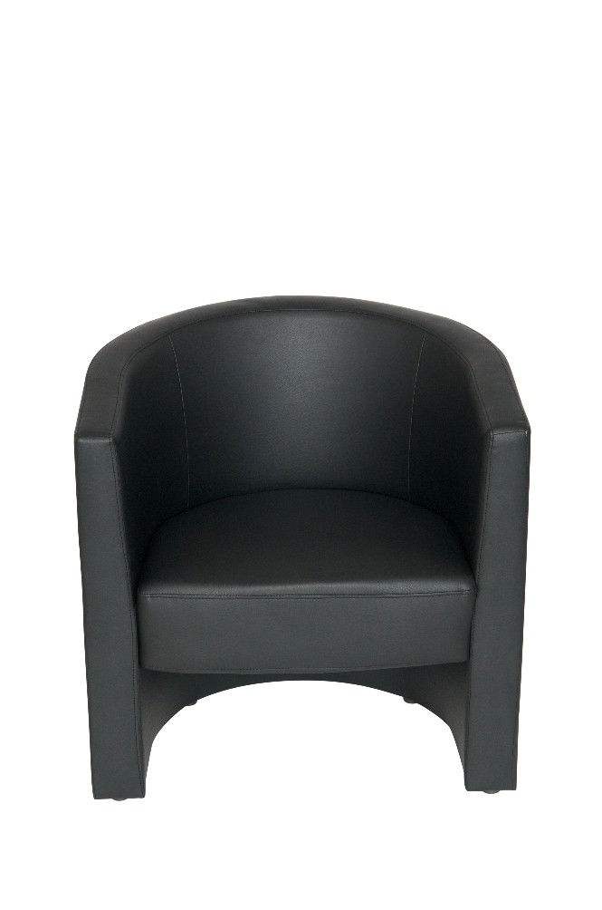 TUB chair in Black Faux Leather