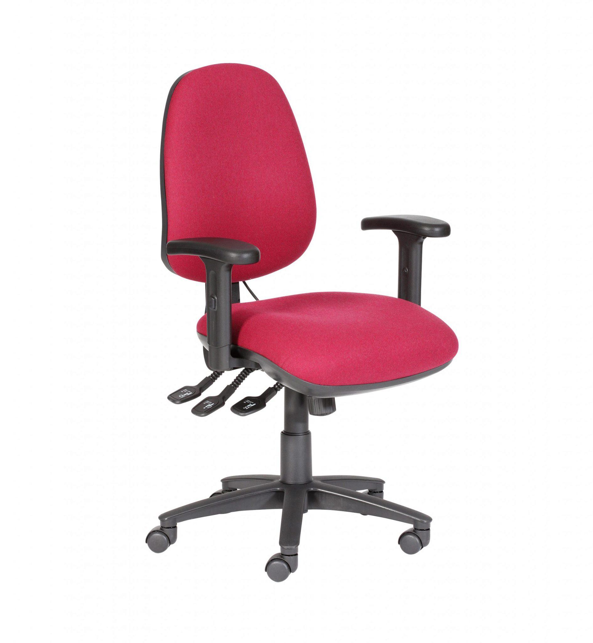 Tiverton High Back Operators Chair with Adj. Arms - Fabric : Phoenix Havana (Black) YP009