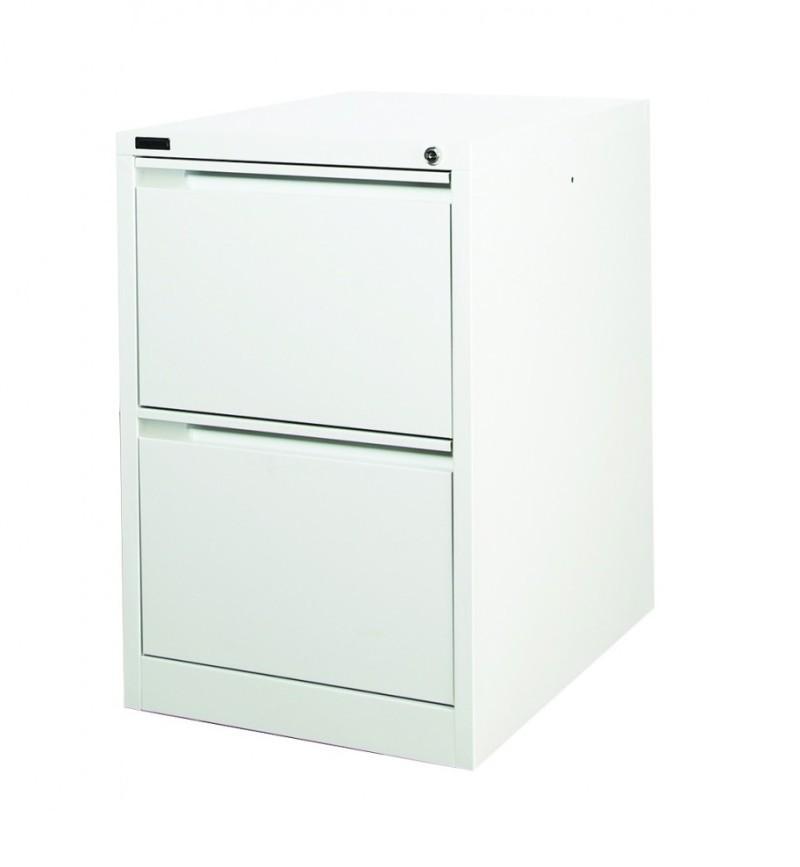 Premium 2 Drawer Filing Cabinet (Grey or Brown & Beige) 710h x 470w x 620d