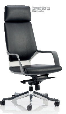 Executive Black Chair Black Leather HEADREST ONLY