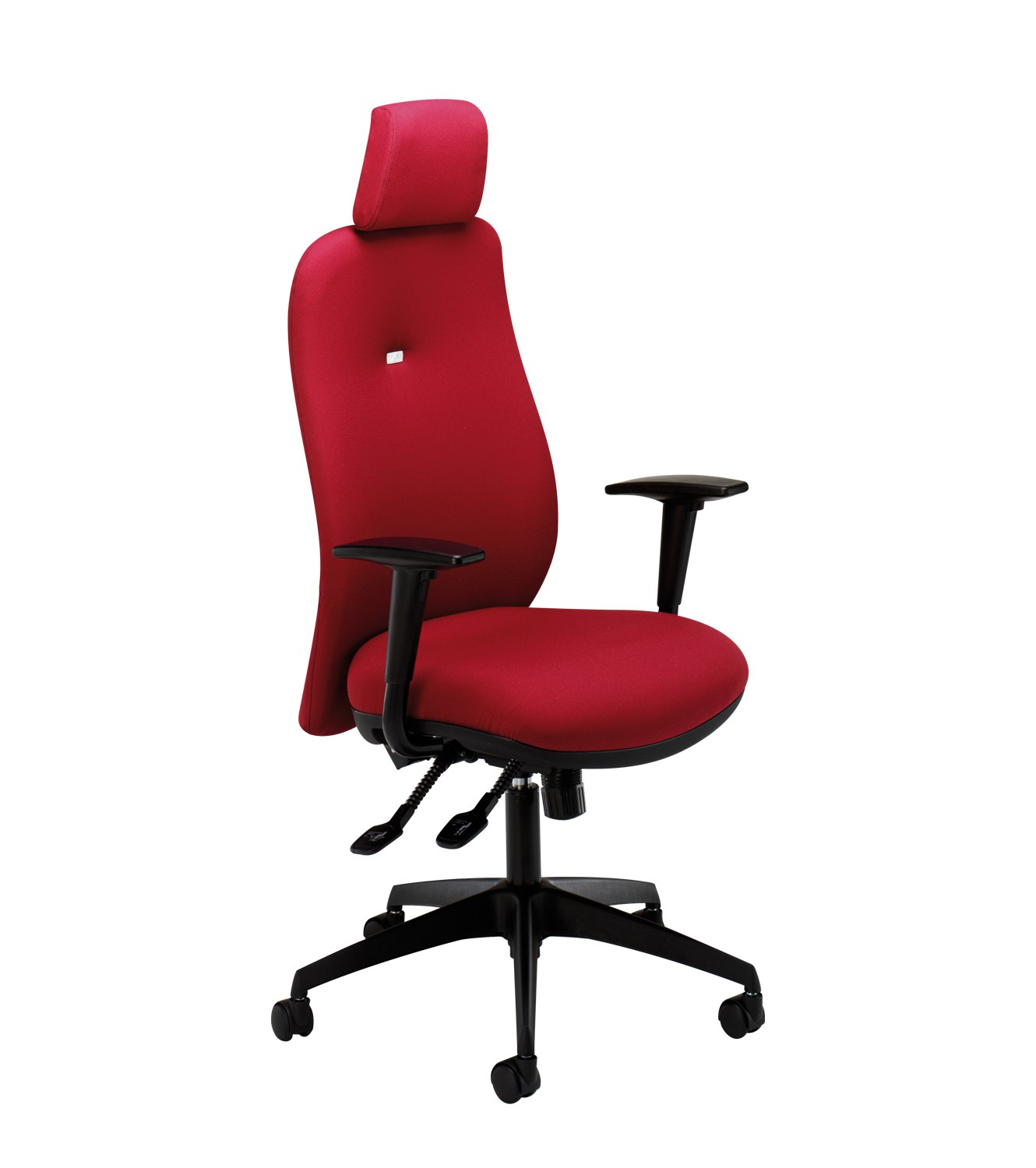 High Back Synchro Task Chair with headrest,adjustable arms & inflatable lumbar support