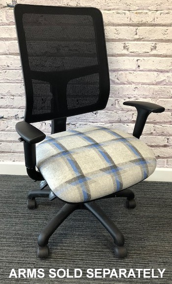 Task Mesh Square Back fully loaded Operators Chair 4 Lever Fabric Col 1