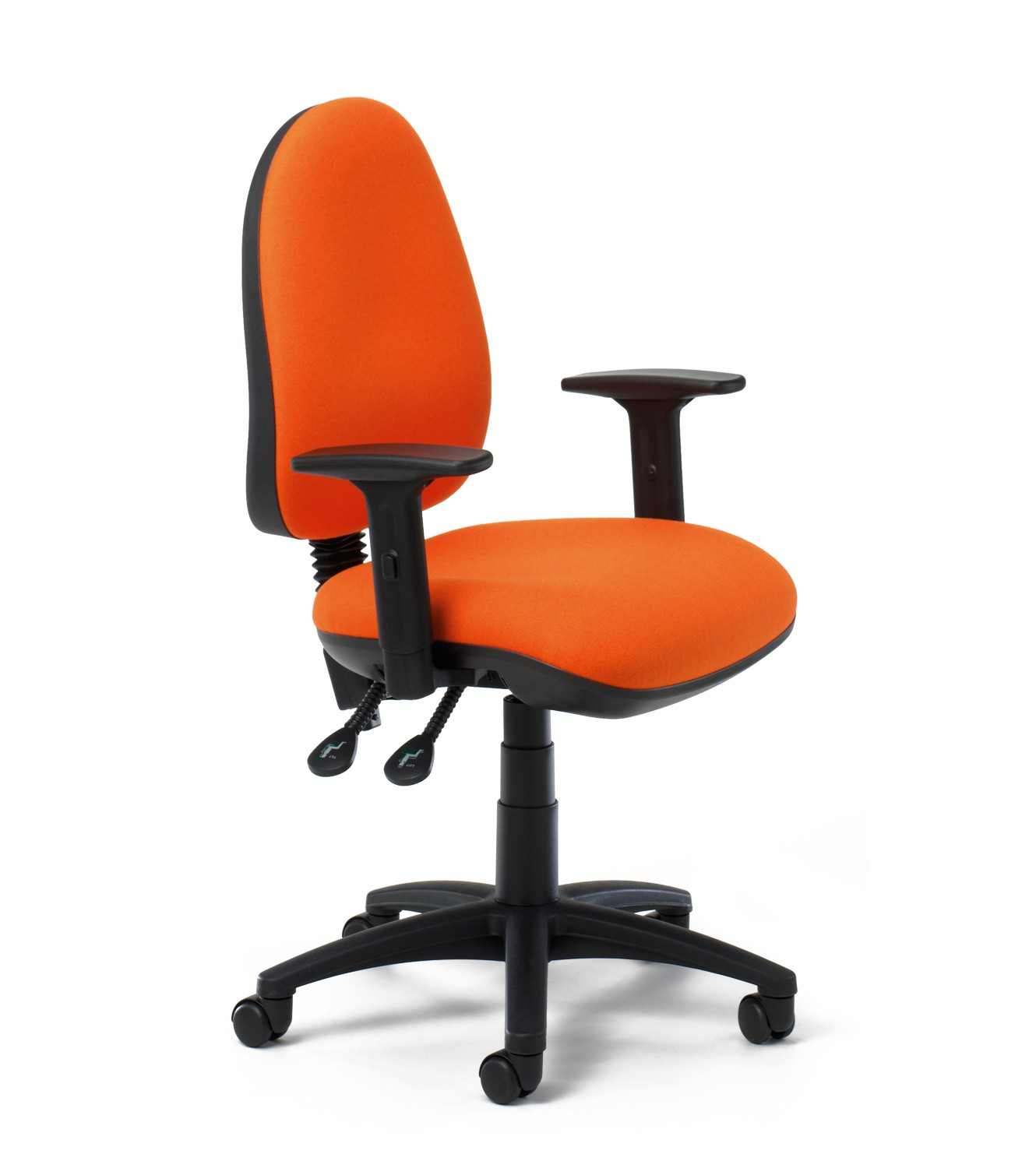 High Back Operator Task Chair with adjustable arms