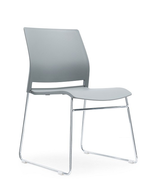 Verse Multipurpose Stacking Chair All Grey Shell