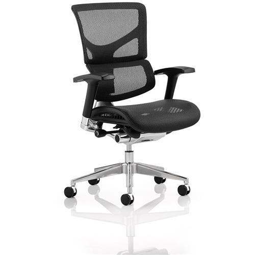 Ergo Executive Posture Chair Black Frame Black Mesh