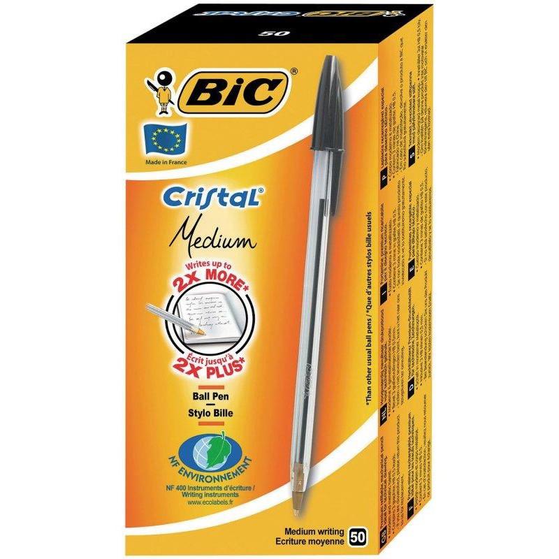 Bic Cristal Medium Ball Pen Black