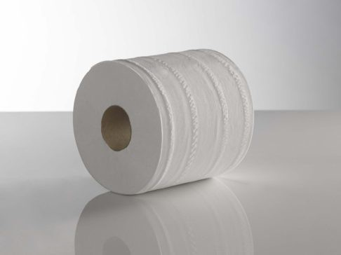 2 Ply White CentreFeed Rolls 150M x 180mm x 70mm Embossed Pack 6