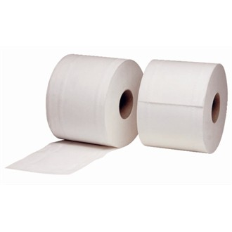 2 Ply White Toilet Roll 95mm x 105mm x 320 Sheets Pack 36