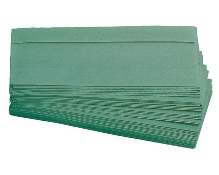 1 Ply Green C-Fold Hand Towel 2850 Sheets Packed 190 x 15